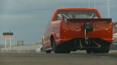 Motorsports, Drag Racing, Supergas pickup truck launch, long shot Stock Footage