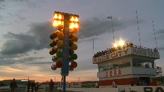 motorsports, drag racing, christmas tree lights pro lights - stock footage