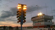 Stock Video Footage of motorsports, drag racing, christmas tree lights pro lights