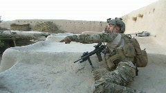 Stock Video Footage of Clearing a compound in Afghanistan (HD) c