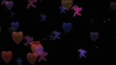 Animated Valentines Backgrounds  - stock footage