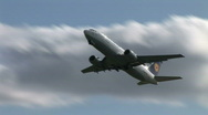 HD1080i Passenger Condor airplane jetliner. Take off. Stock Footage