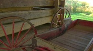 Carriage in barn dolly in Stock Footage