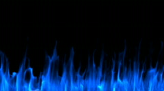 Blue Line of Fire Stock Footage