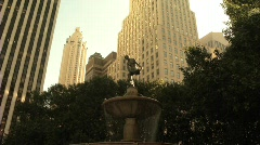 Grand Army Plaza Fountain New York City 2 Stock Footage
