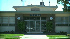Small Town Police Station Stock Footage
