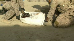 Special Operators remove drugs from Taliban Compound Stock Footage