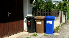 German Garbage collection system Stock Footage