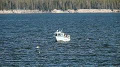 Troller boat Yellowstone Lake P HD 2663 Stock Footage
