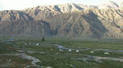 Tashkurgan Tajik pastureland Stock Footage