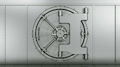 Vault door opening Stock Footage