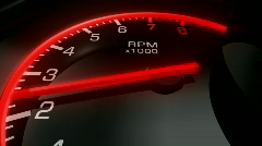 Speedometer Pan Zoom HD1080 Stock Footage