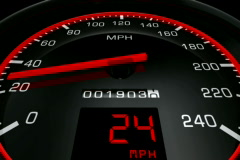 Speedometer Close Up NTSC - stock footage
