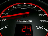 Speedometer Close Up NTSC Stock Footage