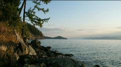 Time lapse of sunrise on Baikal lake Stock Footage