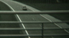 1950s Citroen 2CV drive-by - Vintage 8mm film footage Stock Footage