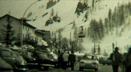 Stock Video Footage of 1940s Ski Station Cable Car - Vintage 8mm Film