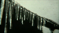 1940s Winter Scenery Ice Dams - Vintage 8mm Film Stock Footage