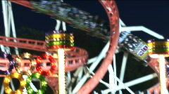 HD1080i Roller coaster on Oktoberfest in Munich. Germany.  - stock footage