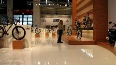 bike bicycle tradeshow - stock footage