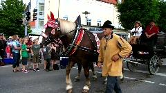 Bavaria Mindelheim Frundsbergfest Medieval festival Stock Footage