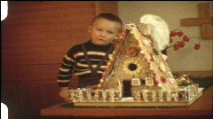 German Lebkuchen-Haus (vintage 8 mm amateur film) Stock Footage