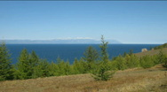 Time lapse of Hoboi cape in Baikal lake Stock Footage
