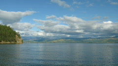 Time lapse of Chivirkuy Bay in Baikal lake Stock Footage