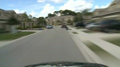 Stock Video Footage of Driving through Housing Subdivision - Time Lapse 2 of 2