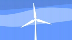 Wind Turbine 640x360 Stock Footage
