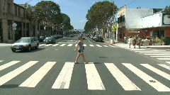 Time lapse of Driving in Santa Monica CA - Roof Mounted Camera 1 of 2 Stock Footage