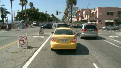 Time lapse of Driving in Santa Monica CA - Roof Mounted Camera 2 of 2 Stock Footage