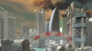 Stock Video Footage of SciFI City