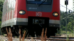 German train passing Stock Footage