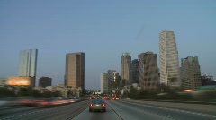 Los Angeles - Car Mounted Camera - Timelapse - Clip 18 Stock Footage
