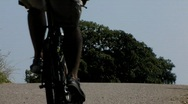 Stock Video Footage of Leisure activity Biker in countryside