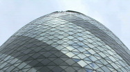Stock Video Footage of Zoom out Swiss RE tower, City of London United Kingdom