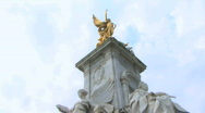 Stock Video Footage of PAN down on Buckingham palace London United Kingdom