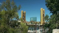 tower bridge, Sacramento - stock footage
