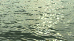 Shot of calm sea sun reflecting Stock Footage
