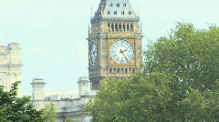 Zoom out of Big ben and St James park London UK Stock Footage