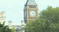 Stock Video Footage of Zoom out of Big ben and St James park London UK