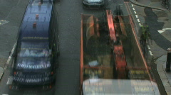 Time lapse elevated view on traffic in front of traffic light London England Uni Stock Footage