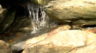 Creek ECU push 1 Stock Footage