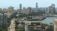 Pan over skyline mumbai business district Stock Footage