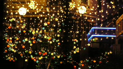 Night club decorated with lights and adornments for christmas 1 Stock Footage
