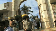 Stock Video Footage of People in front of Haji Ali temple Mumbai India