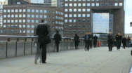 Stock Video Footage of Time lapse of business people commuting London bridge