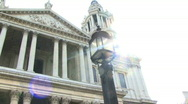 Stock Video Footage of St Paul PAN backlit London United Kingdom
