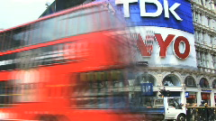 Time lapse Piccadily circus London United Kingdom Stock Footage